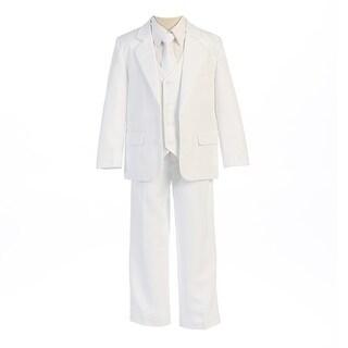 Sweet Kids Little Boys White Button Jacket Vest Shirt Vest Tie Pants Suit 12M-7