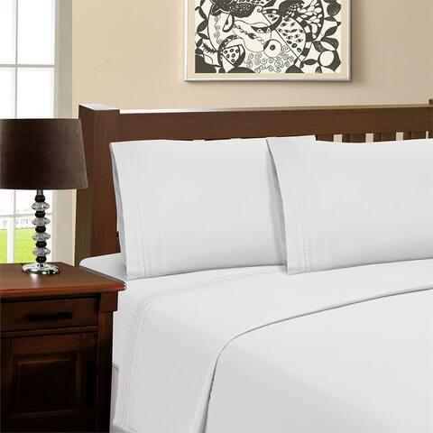 Superior Infinity Wrinkle Resistant Brushed Microfiber Bed Sheet Set