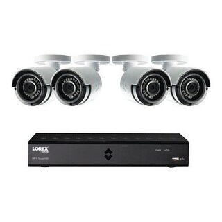 Lorex HD Security Camera System w/ 4 1080p Bullet Cameras & 1TB DVR - White