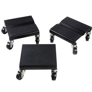 Costway 1500 LBS Snowmobile Roller Set 3 PCs Dolly Storage Dollies Mover Snow Mobile