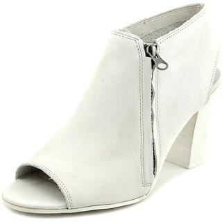 Matisse Dolan Women Open-Toe Leather White Bootie