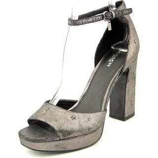 Coach Margharita Star Women  Open Toe Leather Silver Platform Heel