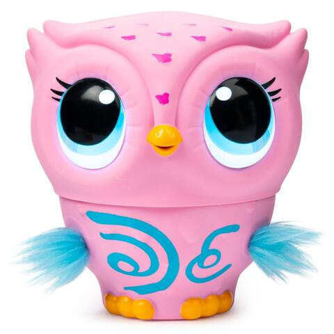 Owleez Flying Baby Owl Interactive Toy with Lights and Sounds, Pink - 4.63 x 5.25 x 8.63