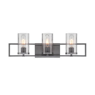 Designers Fountain 86503 Elements 3 Light Bathroom Vanity Light - Charcoal