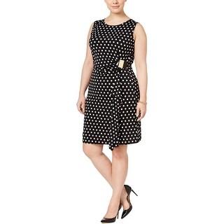 MICHAEL Michael Kors Womens Wear to Work Dress Matte Jersey Polka Dot