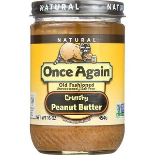 Once Again - No Salt Crunchy Peanut Butter ( 12 - 16 OZ)
