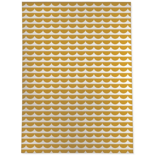 MID CENTURY SCALLOP MUSTARD Area Rug by Kavka Designs. Opens flyout.