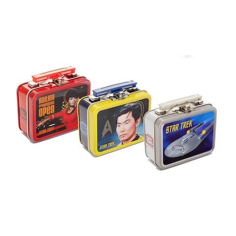 Star Trek The Original Series Teeny Tin Lunch Box, Set of 3 Random Designs - multi