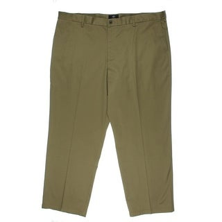 Dockers Mens Big & Tall Twill Flat Front Khaki Pants