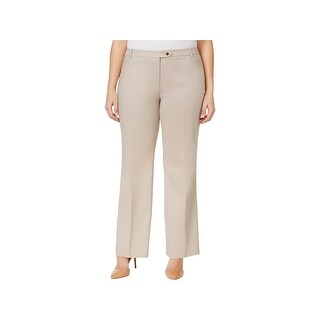 Calvin Klein Womens Plus Trouser Pants Twill Flat Front