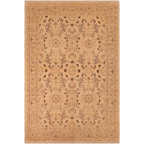"""Shabby Chic Ziegler Nicol Hand Knotted Area Rug -6'2"""" x 8'8"""" - 6 ft. 2 in. X 8 ft. 8 in."""