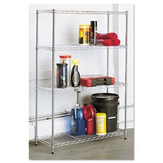 Alera SW843614SR Residential Wire Shelving, Four-Shelf, Silver