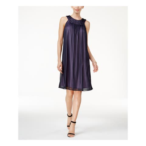 JESSICA HOWARD Purple Sleeveless Knee Length Dress Size 12