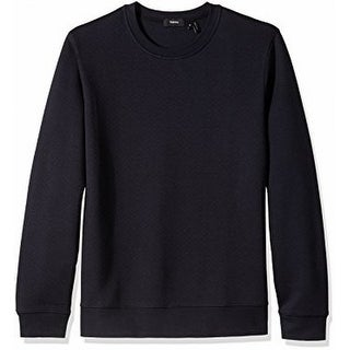 Theory NEW Eclipse Black Mens Size Small S Textured Crewneck Sweater