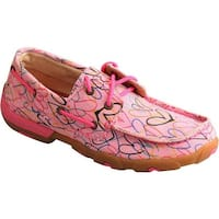 Twisted X Boots Children's YDM0034 Driving Moc Pink Canvas