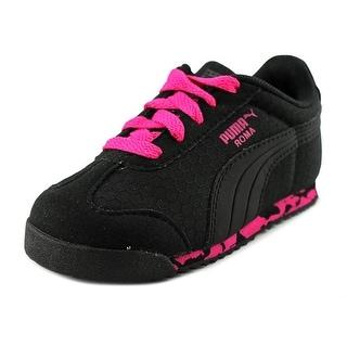 Puma Roma MS Print Toddler Round Toe Canvas Black Sneakers
