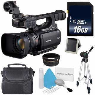 Canon XF105 HD Professional Camcorder 4885B001 (International Model) + 58mm Wide Angle Lenses Bundle (AF6CANXF105B1)