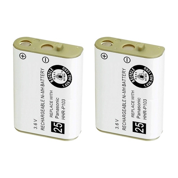 Replacement Battery For VTech 8100 / 2 / 3 Cordless Phones - 102 (800mAh, 3.6V, NiMH) - 2 Pack