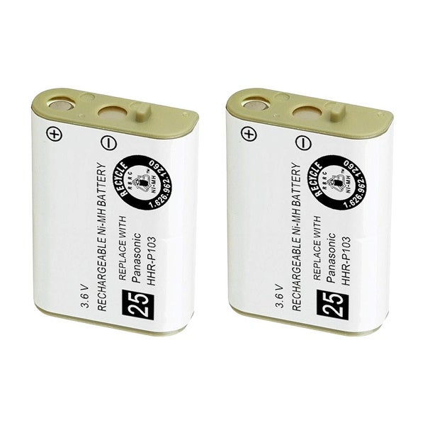 Replacement For VTech 103 Cordless Phone Battery (800mAh, 3.6V, NiMH) - 2 Pack