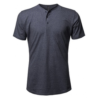 NE PEOPLE Mens Half Button Down Henley Short SleeveT-Shirts (NEMT89)