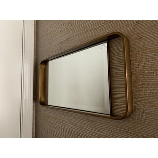 Carson Carrington Elmont Midcentury Modern Gold Metal Mirror