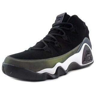 Fila 95 Men Round Toe Suede Black Sneakers