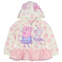 Peppa The Pig Girls' Toddler Pretty Pixie Lightweight Pullover Hoodie