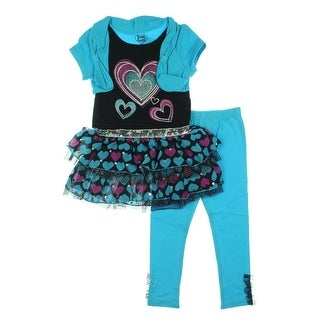 Young Hearts Girls Sequined Chiffon Pant Outfit