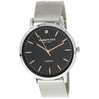 Kenneth Cole Silver Stainless-Steel Japanese Quartz Fashion Watch