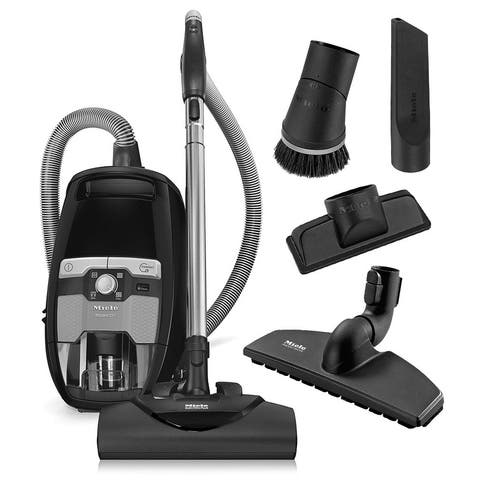 Miele Blizzard CX1 Electro+ Bagless Canister Vacuum Cleaner + SEB 228 Powerhead + SBB 300-3 Parquet Floor Brush + More