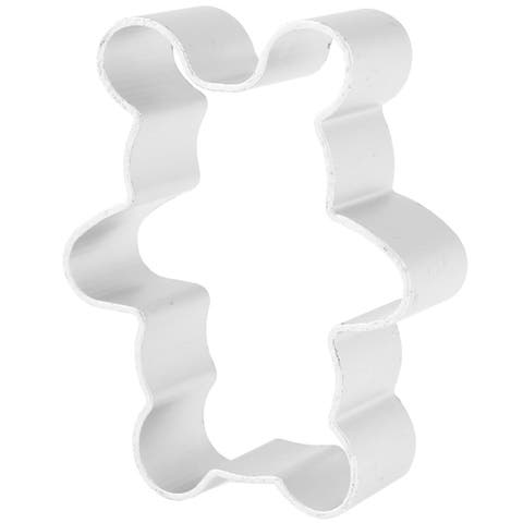 Home DIY Cookie Biscuit Baking Bear Shape Silver Tone Metal Cutter Mold