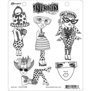 "Dyan Reaveley's Dylusions Cling Stamp Collections 8.5""X7""-Mini Me"