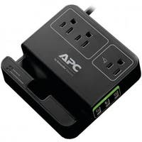 Apc  3-Outlet SurgeArrest Surge Protector with 3 USB Ports - Black