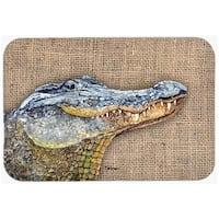 Carolines Treasures 8733LCB Alligator Glass Cutting Board - Large