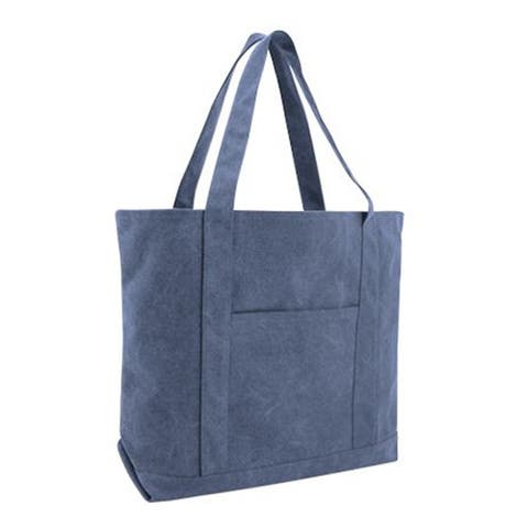 Pigment Dyed Premium 12oz. Canvas XL Boater Tote