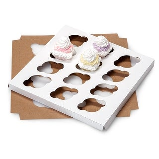 """Pack Of 100, Mini 100% Recycled Cupcake Holder W/12 Cupcakes 9-15/16 X 9-15/16 X 3/4"""" Made In Usa"""