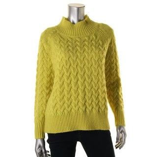 French Connection Womens Cable Knit Long Sleeves Pullover Sweater - XS