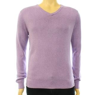 Calvin Klein NEW Purple Mens Size Small S V-Neck Pullover Sweater