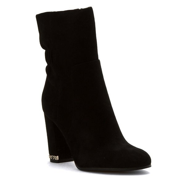MICHAEL Michael Kors Womens Chase Suede Almond Toe Ankle Fashion Boots - 5