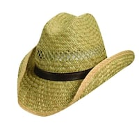Dorfman Pacific Rush Straw 3.5 Inch Shapeable Brim Western Cowboy Hat