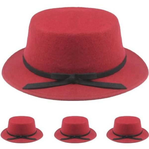Shop DDI 1935618 Red Wool Winter Bucket Hat Case Of 12