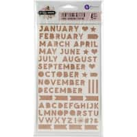 """Amelia Rose Glitter Stickers 4""""X7"""" 4/Pkg-Everything Glitter Letters & Numbers"""