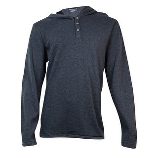 DKNY Jeans Men's  Long-Sleeve Hoodie (Dark Heather Grey, XXL) - XXL