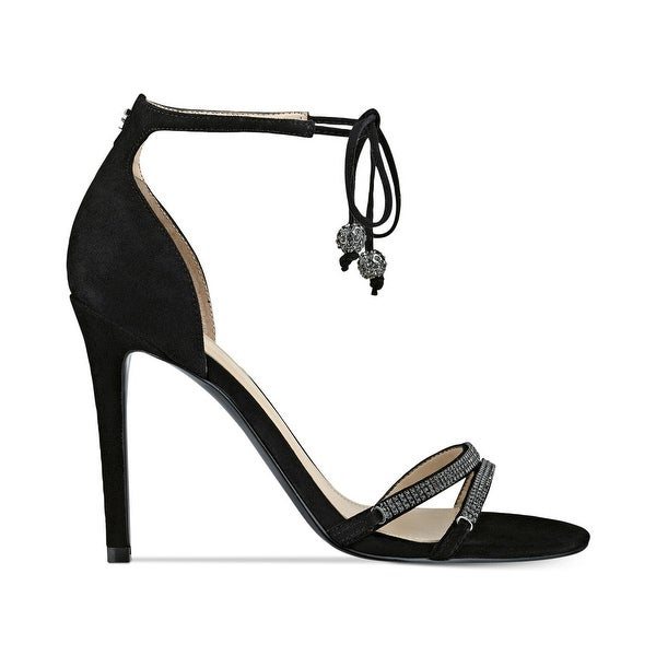 GUESS Womens Peri Leather Open Toe Bridal Ankle Strap Sandals