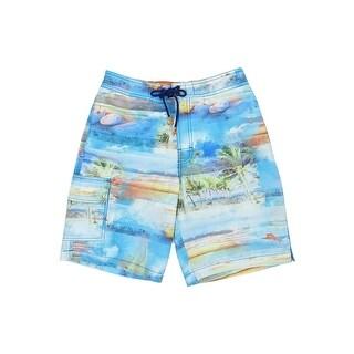 Tommy Bahama Men's Baja Electric Beach Shorts - galaxy blue