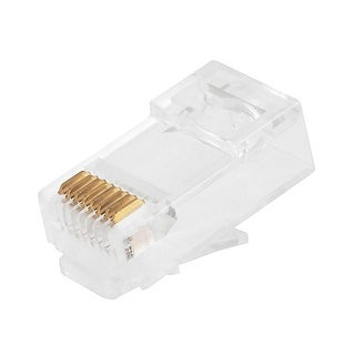 Monoprice 100-pcs RJ45 Modular Plug for Cat6 Solid Cable