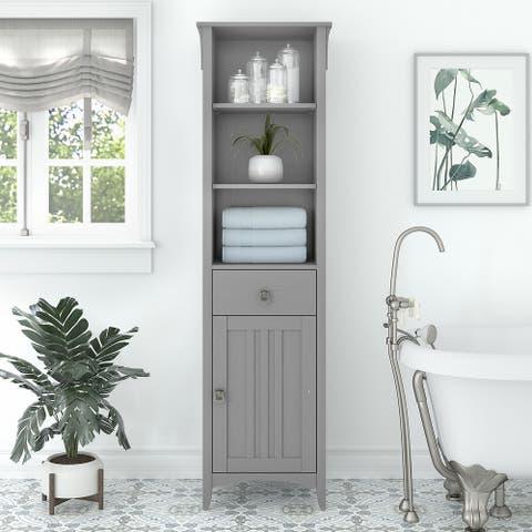 Salinas Tall Bathroom Storage Cabinet by Bush Furniture