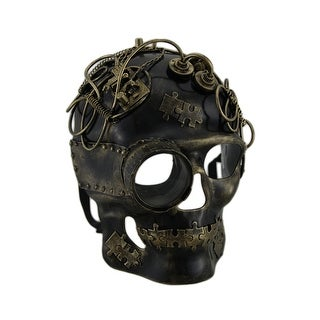 Metallic Steampunk Skull w/Monocle Mask (3 options available)