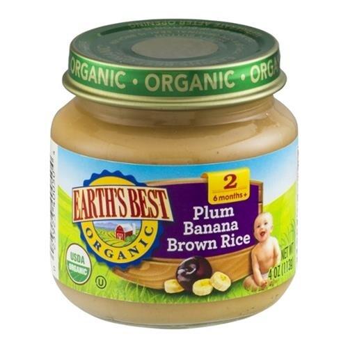 Earth's Best - Organic Plum Banana Brown Rice ( 12 - 4 OZ)