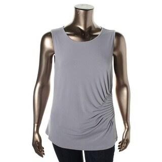 Calvin Klein Womens Matte Jersey Sleeveless Blouse - S